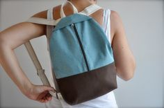 canvas bag hipster backpack canvas backpack rucksack by GalelBags