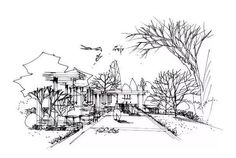 Landscape Architecture Drawing, Architecture Sketchbook, Drawings, Bubbles, Journal, Beautiful, Architecture, Sketches, Drawing