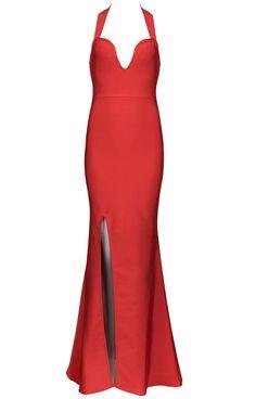 Dream it Wear it - Halter Slit Mermaid Evening Bandage Dress Red, $156.86 (http://www.dreamitwearit.com/halter-slit-mermaid-evening-bandage-dress-red/)