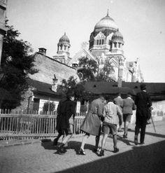 Eger, Zsinagóga 1937 (fotó: Fortepan)