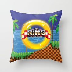 Buy Retro Platform Video game poster  Throw Pillow by Nick's Emporium . Worldwide shipping available at Society6.com. Just one of millions of high quality products available.