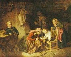 """""""Familjeinteriör"""" av Killian Christoffer Zoll (1818-60)"""