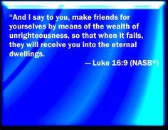 Bible Verse Powerpoint Slides for Luke 16:9