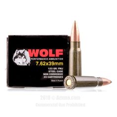 Wolf 7.62x39 Ammo - 1000 Rounds of 123 Grain FMJ Ammunition #762x39 #762x39Ammo #Wolf #WolfAmmo #Wolf762x39 #FMJAmmo #WolfPolyformance