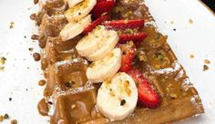 Fırında Waffle French Toast, Breakfast, Food, Kitchens, Waffles, Morning Coffee, Essen, Meals, Yemek