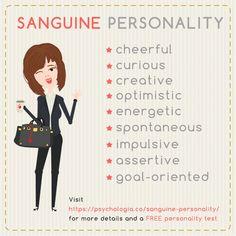 Sanguine Personality Traits – the Boredom Busters Sanguine Personality, Free Personality Test, Character Personality, Personality Psychology, Mbti Personality, Psychology Graduate Programs, Colleges For Psychology, Forensic Psychology