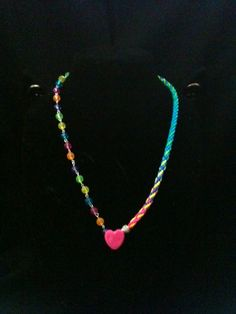 Valentines Day Present For My Daughter  half kumihimo and half beads.