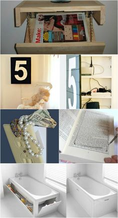 these are great small space ideas not just hiding places minus on or two i think is just silly -15 Secret Hiding Places That Will Fool Even the Smartest Burglar – Page 15...