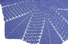 Shell and V-stitch Round Ripple Blanket - Afghans Crocheted My Patterns - - Mama's Stitchery Projects