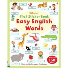 An illustrated picture word book with over 150 everyday word stickers to add to the pages. It encourages word and picture recognition and matching, and aids vocabulary building for children starting to learn to read. It is suitable for English language learners with themes that include animals, the body and clothes, family and friends, and home.