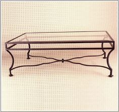 """9090  FORGED IRON TABLE SHOWN WITH OPTIONAL INSET BEVELED GLASS TOP FINISH SHOWN: PUEBLO BASE DIMENSIONS SHOWN W 36"""" L 54"""" HT 18"""""""