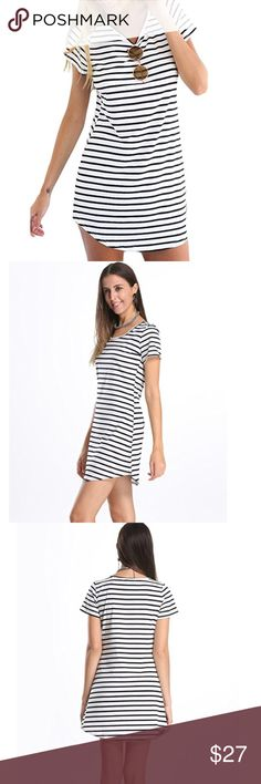 New with tags! Cute and comfy stripe dress! Size M New with tags! Cute and comfy stripe dress! Size M. Perfect for any occasion!  Runs a little small so I say closer to a size 4-6 Choies Dresses Midi