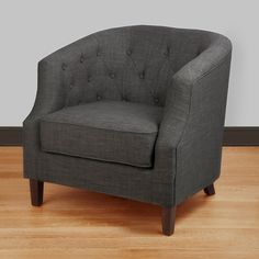 Ansley Charcoal Grey Tub Chair | Overstock.com Shopping   The Best Deals On  Living
