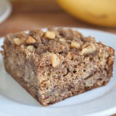 Banana Cake with Walnut Crumbles - can be D-friendly