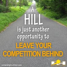 Hill Running Motivational Quote from Runner's High