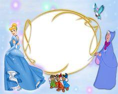 disney digital frames borders | Cinderella Princess Frame Theme | Frame 123