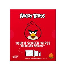 Angry Birds Touch Screen Wipes by Nordic Hug RED is my favourite! :)