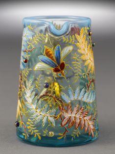 Antique Bohemian Art Glass -- Moser Glass Creamer ~ M. Deco Boheme, Art Of Glass, Antique Glassware, Bohemian Art, Antique Art, Art Nouveau, Art Pieces, Decoration, Antiques