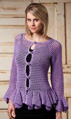 Creative Yarn Source/Crochet Style Etc Purple Haze Sweater