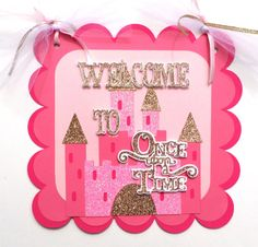 Hey, I found this really awesome Etsy listing at https://www.etsy.com/listing/264247419/door-sign-pink-and-gold-princess-story