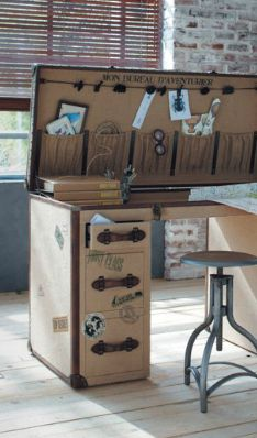 Luggage Desk-very cool. Thinking of travel while working & there's a window! http://www.amazon.com/The-Reverse-Commute-ebook/dp/B009V544VQ/ref=tmm_kin_title_0