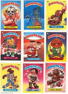 I've been a little dissapointed with the absence of Garbage Pail Kids on Pinterest. Such a visually oriented platform, and not much in the way of a showing from GPK?
