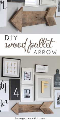 DIY Pallet sign Ideas - DIY Wood Pallet Arrow  - Cool Homemade Wall Art Ideas and Pallet Signs for Bedroom, Living Room, Patio and Porch. Creative Rustic Decor Ideas on A Budget http://diyjoy.com/diy-pallet-signs-ideas