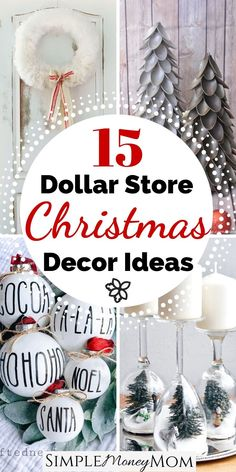 The best dollar store farmhouse Christmas decor ideas on the Merry Christmas, Dollar Tree Christmas, Christmas On A Budget, Dollar Tree Crafts, Magical Christmas, Christmas Diy, Simple Christmas Gifts, Diy Christmas Projects, Handmade Christmas Presents