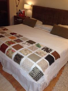 Piecera Bed Runner, Hearth And Home, Cushions, Pillows, Quilt Bedding, Quilt Patterns, Diy And Crafts, Upholstery, Bedroom Decor