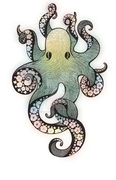 Octopus Illustration by swordtosoul