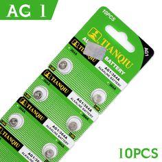 판매 10 개 시계 버튼 배터리 AG1 364 SR621 SR60 SR60L 알카라인 코인 셀 버튼 배터리 1.55 볼트 sr621sw 시계 배터리