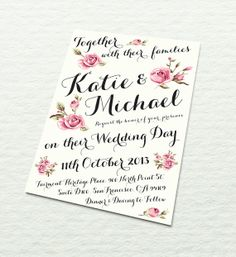 Wedding Invitation  Fully Customisable  Vintage by designbydetail, $12.00