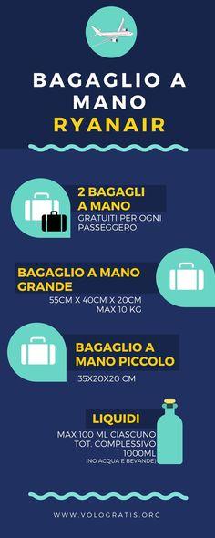 Tutto sul bagaglio a mano #Ryanair #viaggi #viaggilowcost #viaggiare