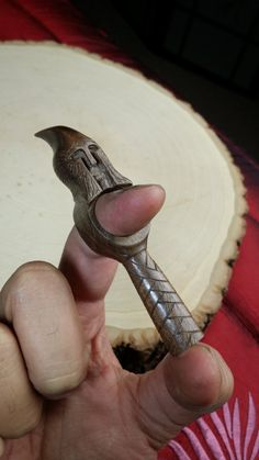 Hand Carved Elven Guard Ring Pipe Tamper & Scraper by RuffWorksUSA
