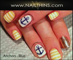 Mini ANCHOR nail decal multi color Anchor Nail Design NAILTHINS on Etsy, $4.00