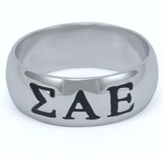 Sigma Alpha Epsilon Sterling Silver Ring