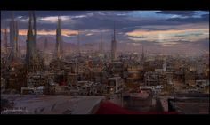 Mark Molnar, who's currently creating his art book, Behind The Pixels, presents Project Dune, a personal project inspired by the world of the original Dun Dune Series, Sience Fiction, Dune Art, Legendary Pictures, Cyberpunk City, Game Workshop, The Dunes, Environment Design, Airplane View