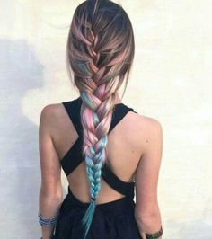 French Braid with color
