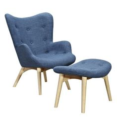 Nye Koncept Furniture 445563-A-153 Dodger Blue Aiden Chair