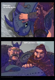 Sadly in the second movie Stoick sacrifices himself for his own son's life.