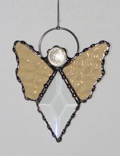 Stained Glass Suncatcher  Angel Clear Glass Bevel by GLASSbits, $15.00
