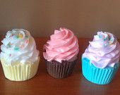 1 Soap Cupcake You Choose Colors and Scents. $5,00, via Etsy.