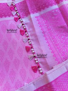 Saree Kuchu New Designs, Saree Tassels Designs, Fancy Blouse Designs, Bridal Blouse Designs, Lehenga Saree Design, Pattu Saree Blouse Designs, Saree Blouse Patterns, Hand Work Blouse Design, Stylish Blouse Design