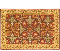 Iznik Tiles Rug - 6'x9' - Inspired by the colorful Turkish tiles that Ottoman sultans used to adorn their homes. Vibrant copper, gold, green and brown dance in this dramatic