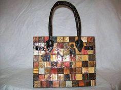 DIY birkin bag, completely upcycled!