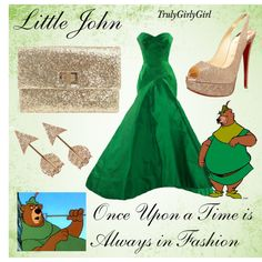 she has an outfit for pretty much every disney character ever-created by trulygirlygirl.polyvore.com-love this stuff!