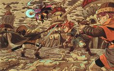 Toriyama's concept drawing for Chrono Trigger