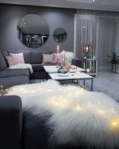 This ultimate female bedroom bedroom decor cute after h . - This ultimate feminine bedroom bedroom decor cute after home p - Living Room Decor Cozy, Home Living Room, Apartment Living, Living Room Designs, Apartment Design, Apartment Interior, Apartment Ideas, Copper Living Room Decor, Cool Living Room Ideas