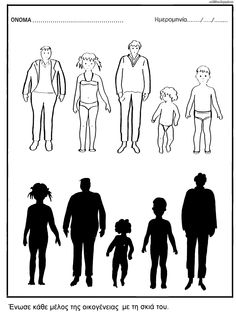 család - árnykép