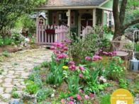 HGTVGardens community member Barbara's potting shed looks like it was plucked from a brothers Grimm tale.